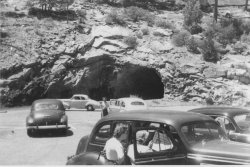 Car tunnel at Yosemite