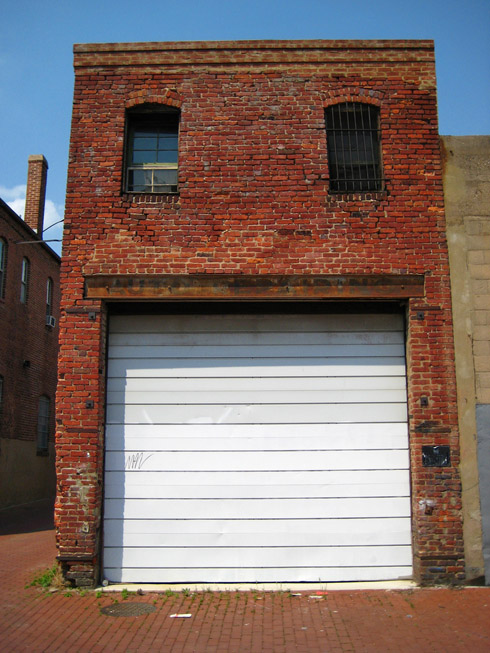 Another View Of The Old Garage In Blagden Alley. Note The Ghost Lettering  On The Beam Across The Garage Door. Google Maps Goofed On The Street Nameu0027s  ...